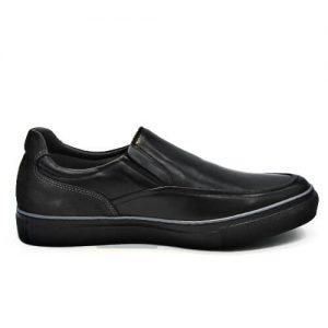 Zapato Cuero negro, interior, sistema de amortiguación mod 18028 TROSSMAN