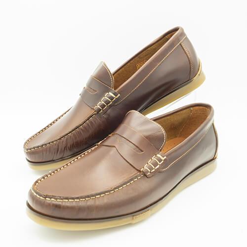 Mocasín marrón TROSSMAN de piel 20210 Zapatos tipo mocasín, cómodos y ligeros Color marrón TROSSMAN® Más espacio es más confort