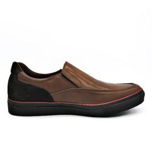 Zapato Cuero marrón, interior, sistema de amortiguación mod 18028 TROSSMAN
