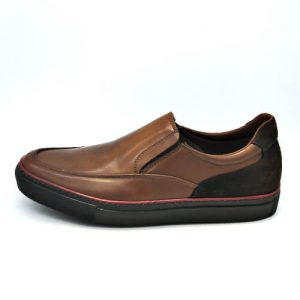 Zapato Cuero marrón, exterior, sistema de amortiguación mod 18028 TROSSMAN
